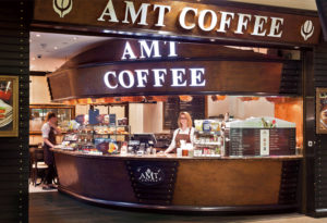 An AMT coffee retail outlet