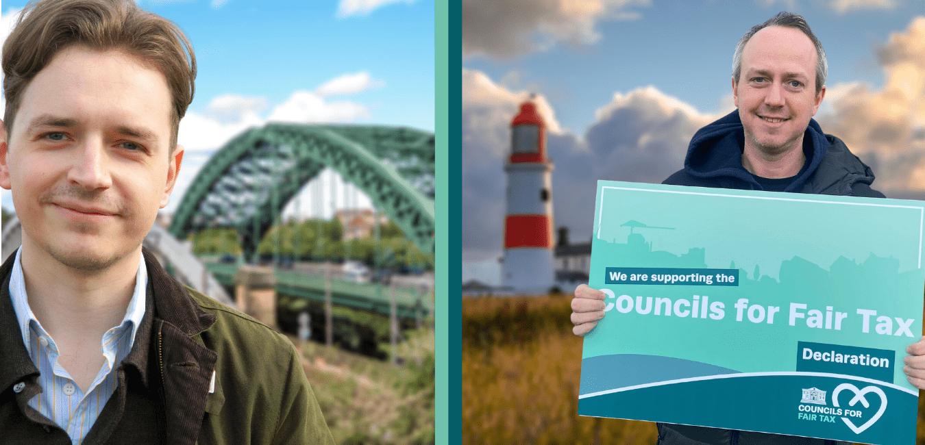 Image of Sunderland Councillor Niall Hodson and South Tyneside Councillor David Francis